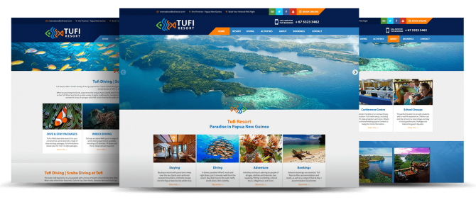 TUFI Resort Website